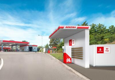 Unipetrol uzavřel smlouvu se společností Bonett o instalaci tří vodíkových stojanů na čerpacích stanicích Benzina